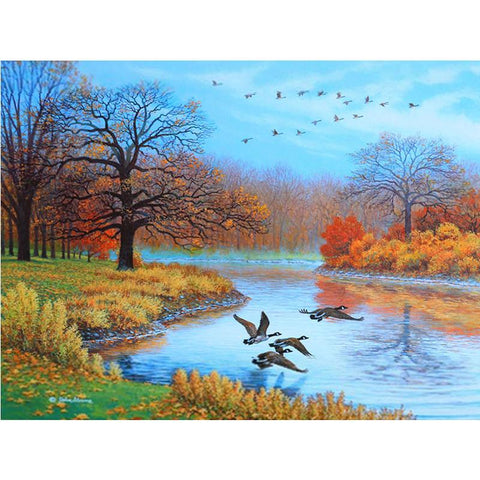 Image of 5D Diamond Painting Geese in the Autumn