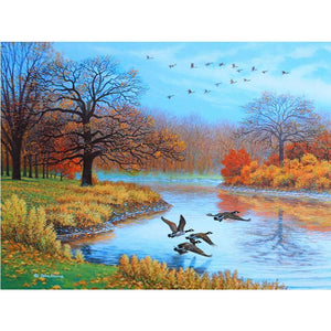 5D Diamond Painting Geese in the Autumn