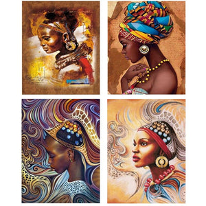 5D Diamond Painting African Woman