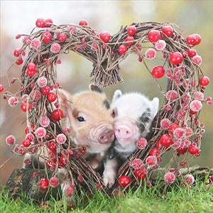 5D Diamond Painting Piglets in Love