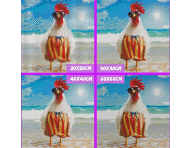 5D Diamond Painting Chicken in Holiday