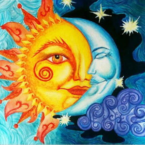 5D Diamond Painting Sun & Moon