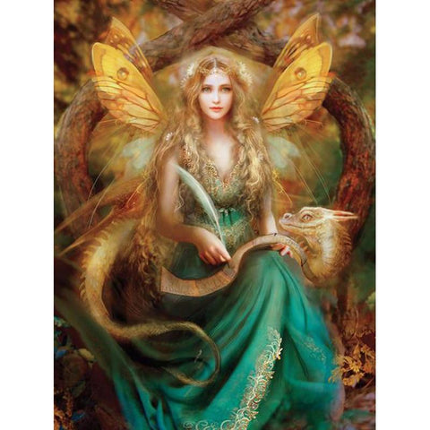 5D Diamond Painting Just a Fairy and Her Dragon
