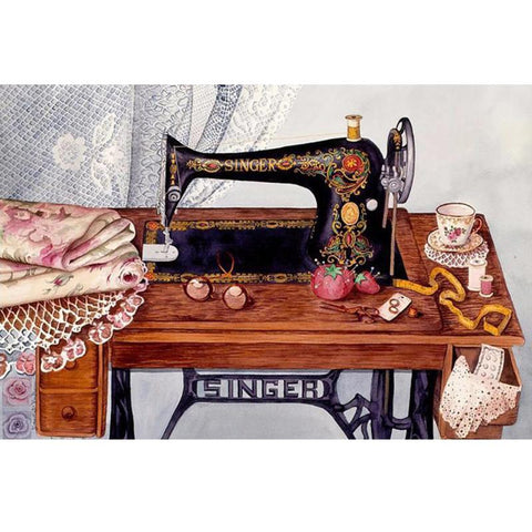Image of 5D Diamond Painting Classic Singer Sewing Machine