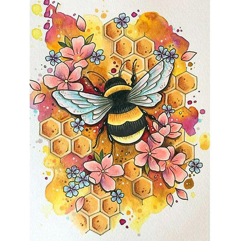 Image of 5D Diamond Painting Honey Bee