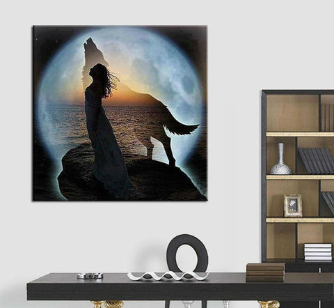 Image of 5D Diamond Painting Wolf Moon