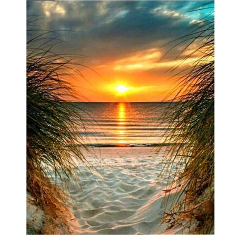 5D Diamond Painting Beach Sunset