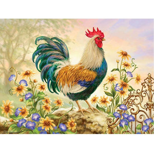 5D Diamond Painting Happy Rooster