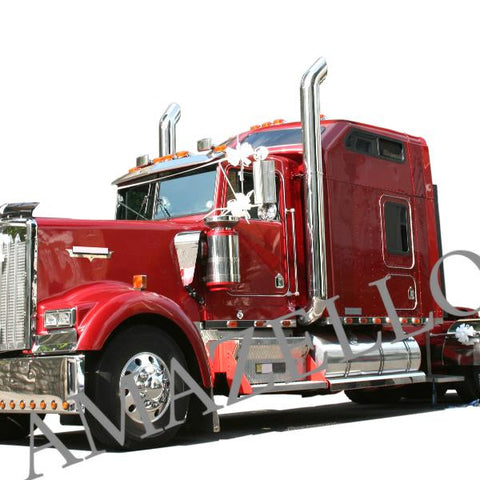 5D Diamond Painting Red Truck (No Background)