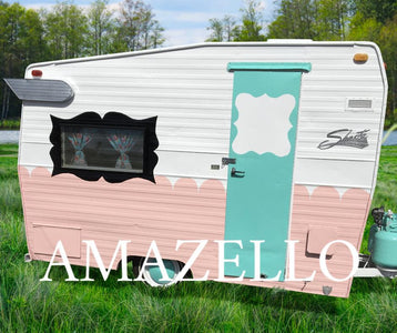 5D Diamond Painting Retro Camper **exclusive collection**