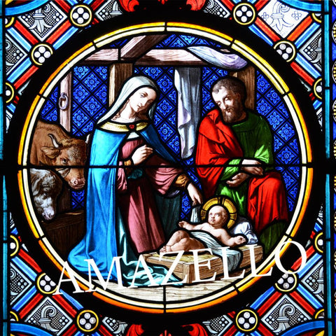 Image of 5D Diamond Painting Nativity Scene Stained Glass **exclusive collection**