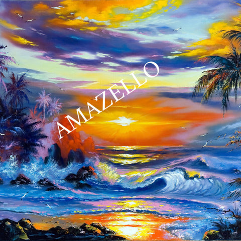 Image of 5D Diamond Painting Tropical Beach Landscape
