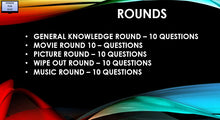 A01 V1 - Fifty Question Five Round Pub Quiz