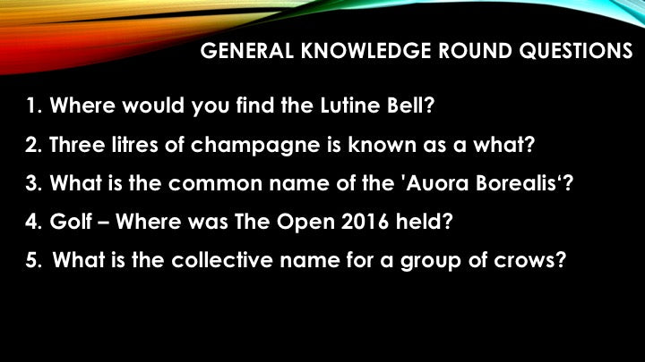 A02 V1 - Eighty Question Five Round Pub Quiz