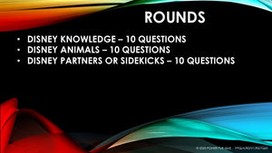 Disney Quiz - 0001 - Three Round Thirty Question Quiz in Powerpoint Format added 30 May 2020