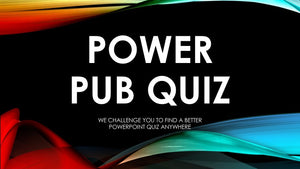 Downloadable paper pub quiz