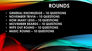 A101 Downloadable Powerpoint Pub Quiz (11 November 2020)