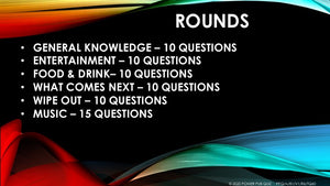 A82 Six Round Sixty Question Quiz