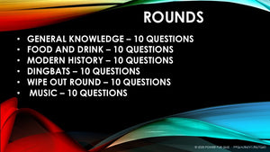 Six round powerpoint pub quiz