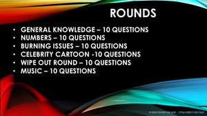A88 Six Round Sixty Question Quiz - Added 22 May 2020