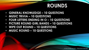 A96 Six Round Sixty Question Quiz - Added 05 August 2020