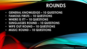 A97 Six Round Sixty Question Quiz - Added 17 August 2020