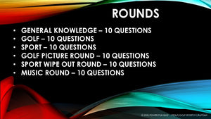 T Golf Sport- Sixty Question Six Round Golf and Sport Themed Quiz (04/08/20)