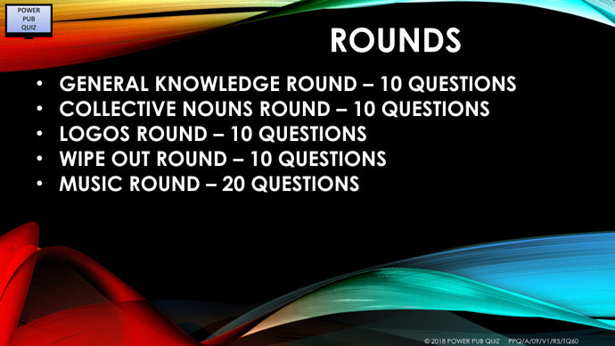 A09 V1 - Five Rounds 60 questions