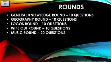 A11 V1 - Sixty Question Five Round Quiz