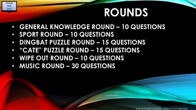 A13 V1 90 Question Six Round Pub Quiz