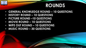 A14 V1 - Six round eighty question pub quiz