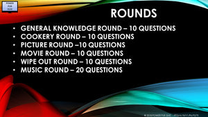 A18 V1 Six Round Seventy Question Pub Quiz