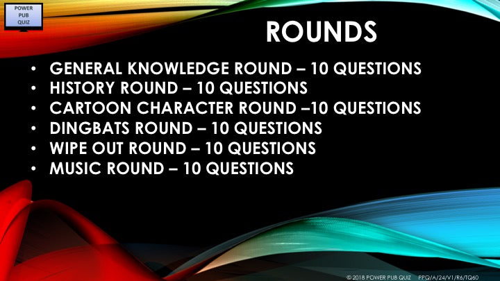 A24 V1 Six Rounds Sixty Question Pub Quiz