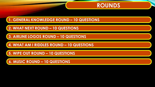 A36 Six Rounds Sixty Question Quiz
