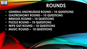 A41 Six Round Sixty-Five Question Quiz