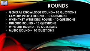 A44 Six Round Sixty-Five Question Quiz
