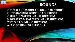 A52 Six Round Sixty Question Quiz