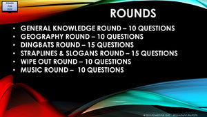A56 Six Round Seventy Question Quiz