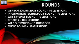 A59 Six Round Sixty Question Quiz