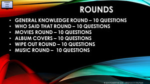 A61 Six Round Sixty Question Quiz
