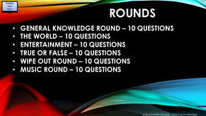 A67 Six Round Sixty Question Quiz