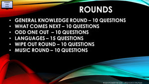 A69 Six Round Sixty-Five Question Quiz