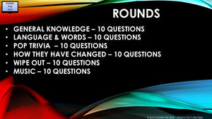 A71 Six Round Sixty Question Quiz