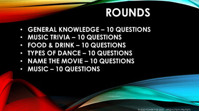 A75 Six Round Sixty Question Quiz