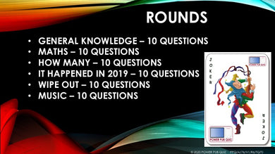 A76 Six Round Sixty Question Quiz
