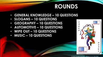 A77 Six Round Sixty Question Quiz