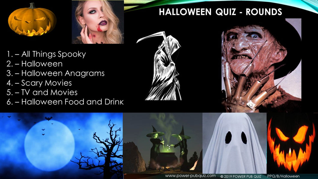 Halloween Six Round Sixty Question Halloween Quiz in PDF Format