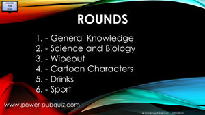 B10 Six Round Seventy Question Quiz in PDF or Paper Format