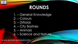 B16 Six Round Sixty Question Quiz in PDF Format