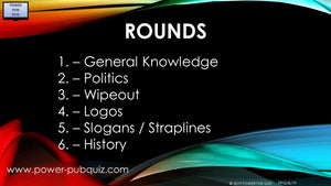 B19 Six Round Sixty Question Quiz in PDF Format